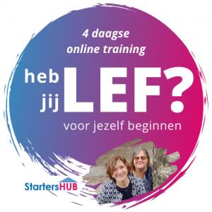 Training Dag 3: heb jij LEF? (voor jezelf beginnen) @ via Zoom (online)